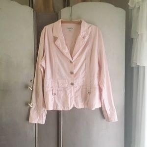 💕4/$25 SALE Coldwater Creek pink blazer